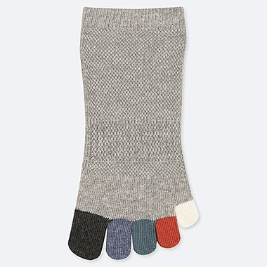 MEN MULTICOLOURED FIVE TOE ANKLE SOCKS