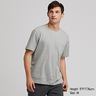 MEN SLUB CREW NECK POCKET T-SHIRT