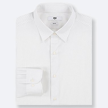MEN EASY CARE STRETCH SLIM FIT STRIPED SHIRT (REGULAR COLLAR)
