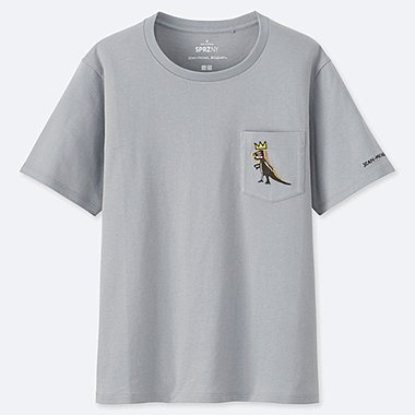 WOMEN SPRZ NY SHORT-SLEEVE GRAPHIC T-SHIRT (JEAN-MICHEL BASQUIAT), GRAY, medium