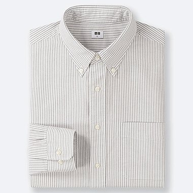 HERREN GESTREIFTES OXFORD-HEMD (REGULAR FIT)