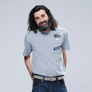 THE BRANDS Masterpiece SHORT-SLEEVE GRAPHIC T-SHIRT (MICHELIN), GRAY, medium