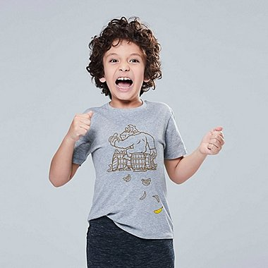 KIDS SUPER MARIO UT (SHORT-SLEEVE GRAPHIC T-SHIRT), GRAY, medium