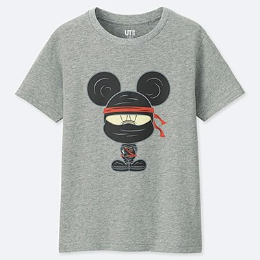 KIDS MAGIC FOR ALL ARCHIVE SHORT-SLEEVE GRAPHIC T-SHIRT (MICKEY 100), GRAY, medium