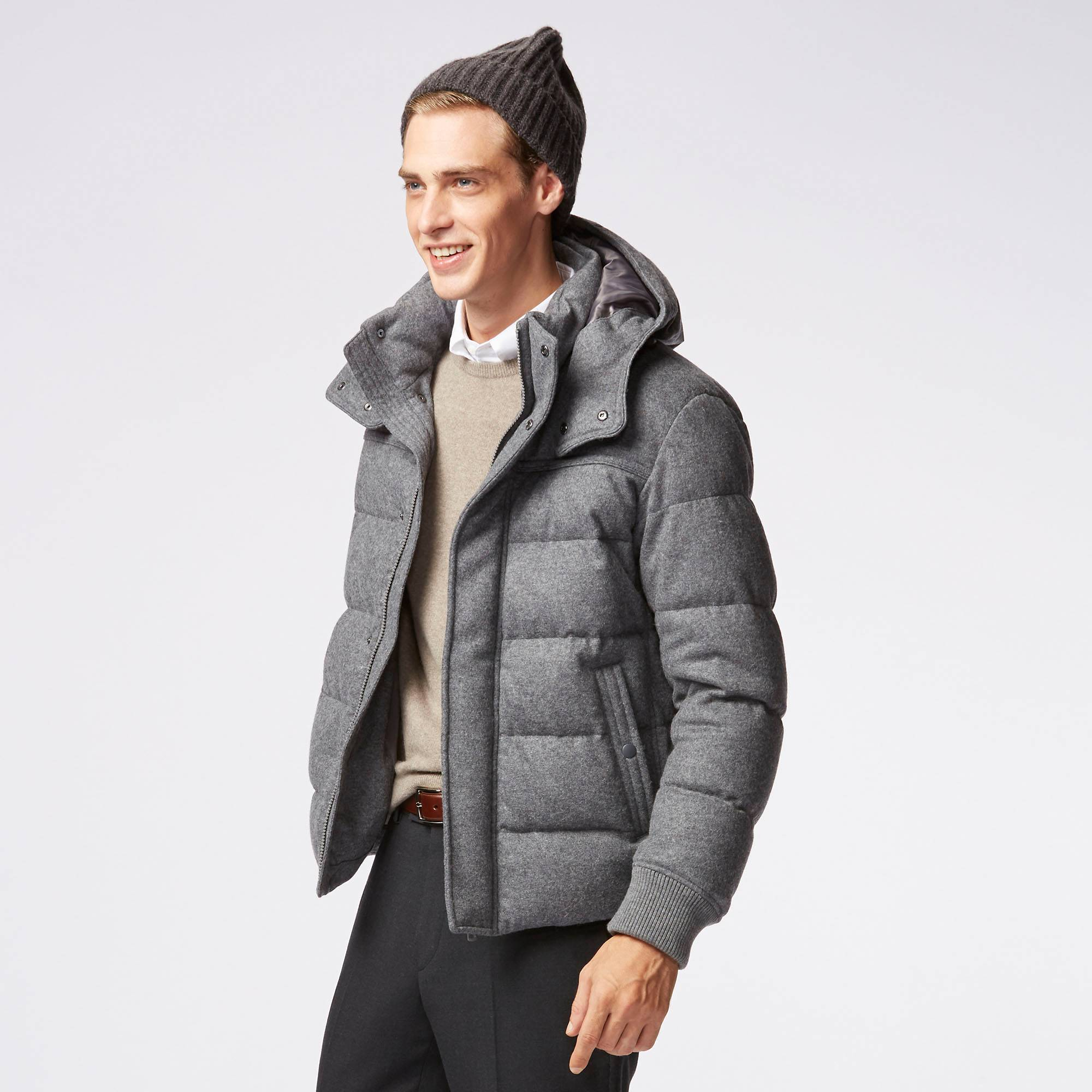 MEN STRETCH WOOL BLENDED DOWN JACKET | UNIQLO US