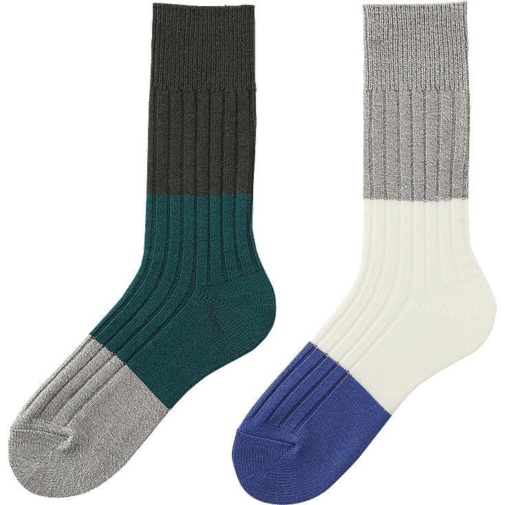 HEATTECH socks, GRAY, large