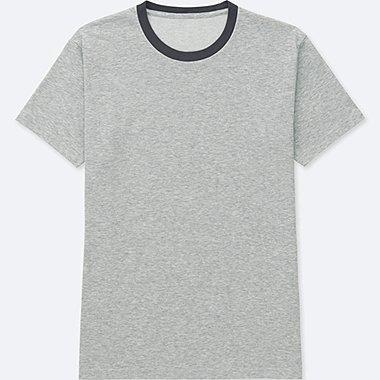 Mens DRY Crew Neck T-Shirt, GRAY, medium