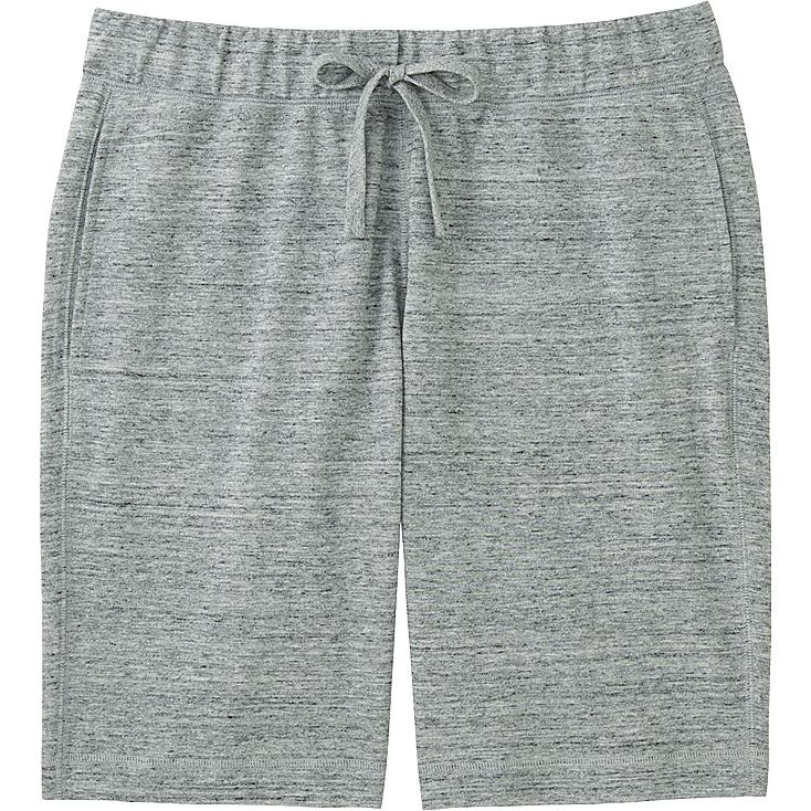 Men's Elastic Waist Shorts, GRAY, large