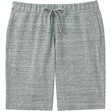 Mens Elastic Waist Shorts, GRAY, medium