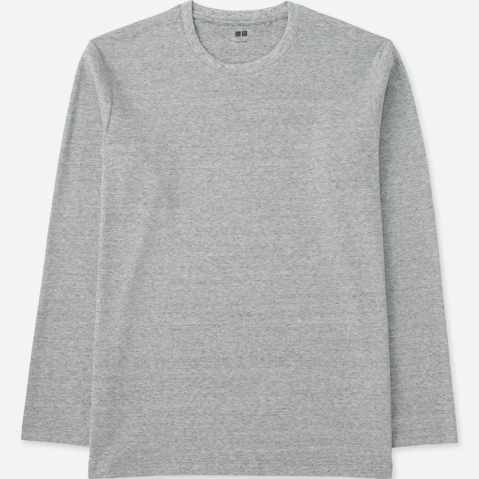 MEN SOFT TOUCH CREWNECK LONG SLEEVE T-SHIRT | UNIQLO US
