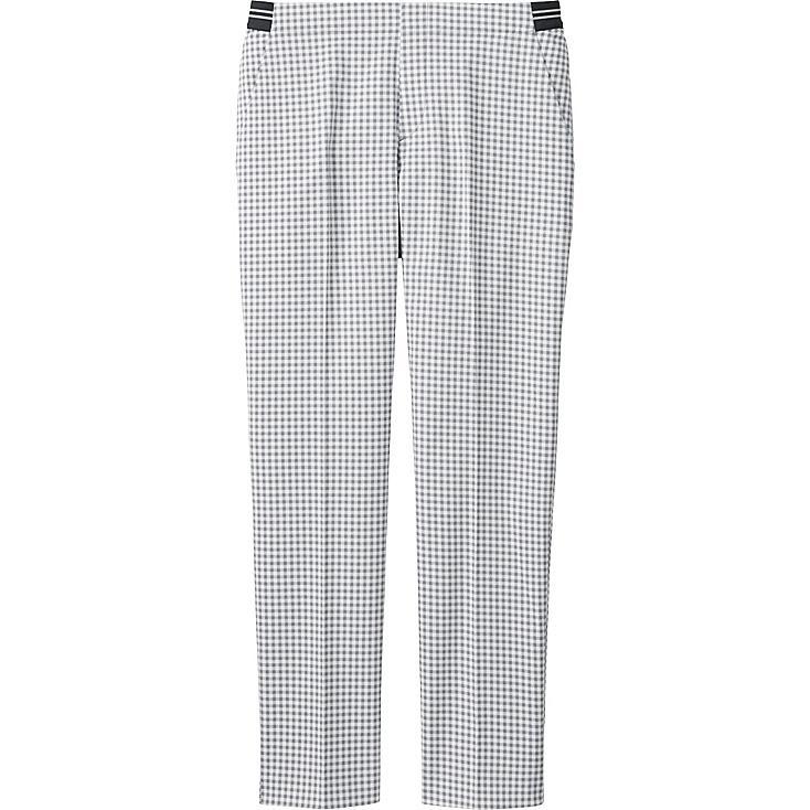 Pantalon 7/8Eme Satiné A Carreaux FEMME