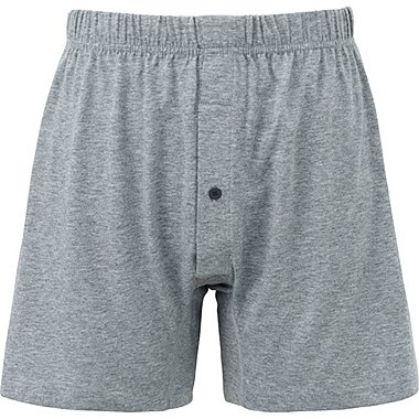 MEN SUPIMA COTTON KNIT BOXERS, GRAY, medium
