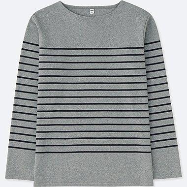 T-Shirt Col Bateau Manches Longues HOMME