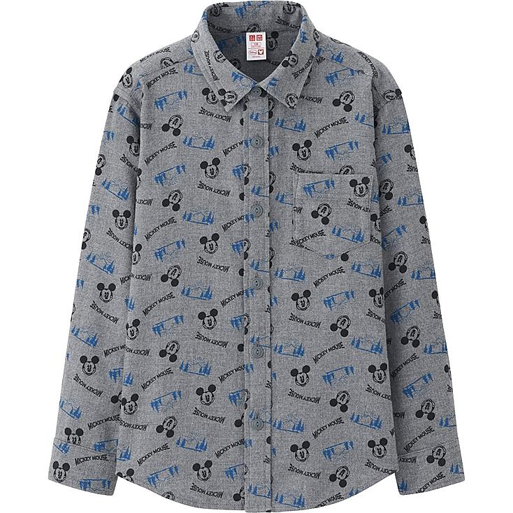 BOYS Disney Collection Flannel Long Sleeve Shirt