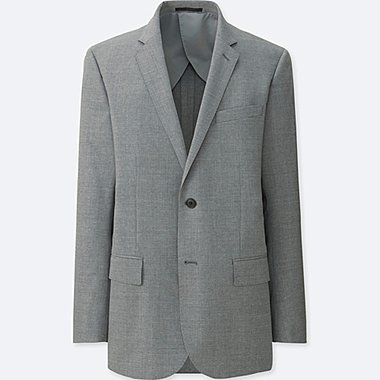 MEN WOOL STRETCH BLAZER SUIT JACKET