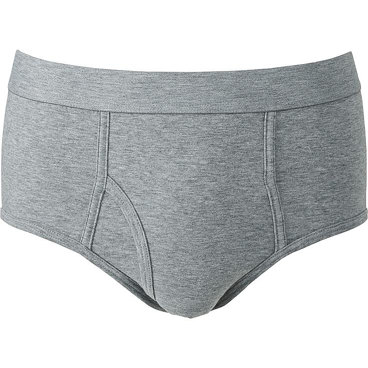 MEN Supima® COTTON BRIEFS, GRAY, large
