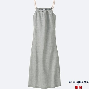 WOMEN INES Cotton Linen Slip Dress