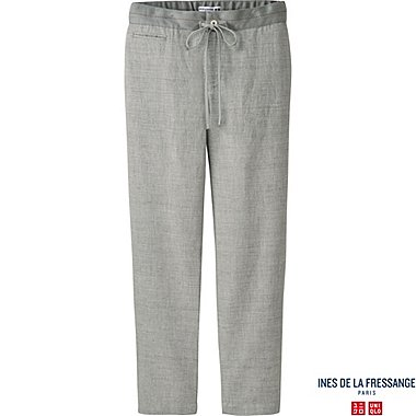 WOMEN INES Cotton Linen Relaxed Trousers