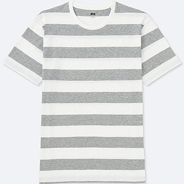 Washed Striped Crewneck Short Sleeve T-Shirt