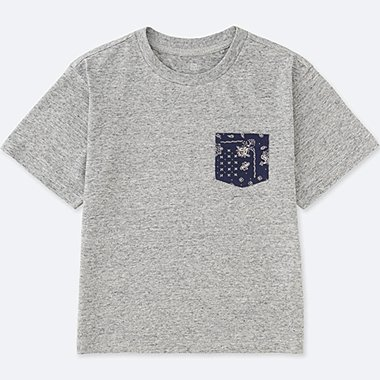 BOYS Pocket Crew Neck Short Sleeve T-Shirt