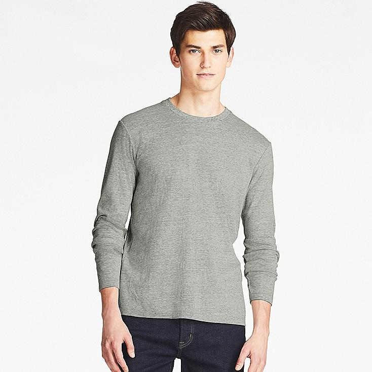 men soft touch crewneck long sleeve t shirt uniqlo us