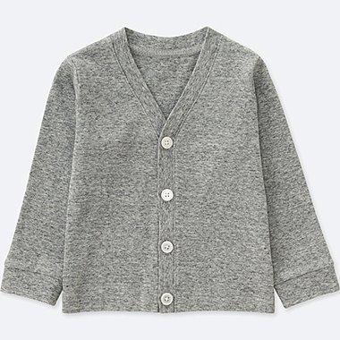TODDLER COTTON LONG-SLEEVE CARDIGAN, GRAY, medium