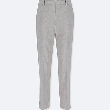 WOMEN SMART STYLE ANKLE-LENGTH PANTS, GRAY, medium