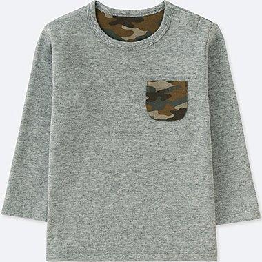 TODDLER CREW NECK LONG-SLEEVE T-SHIRT, GRAY, medium