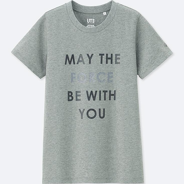 WOMEN STAR WARS: THE LAST JEDI GRAPHIC T-SHIRT, GRAY, large