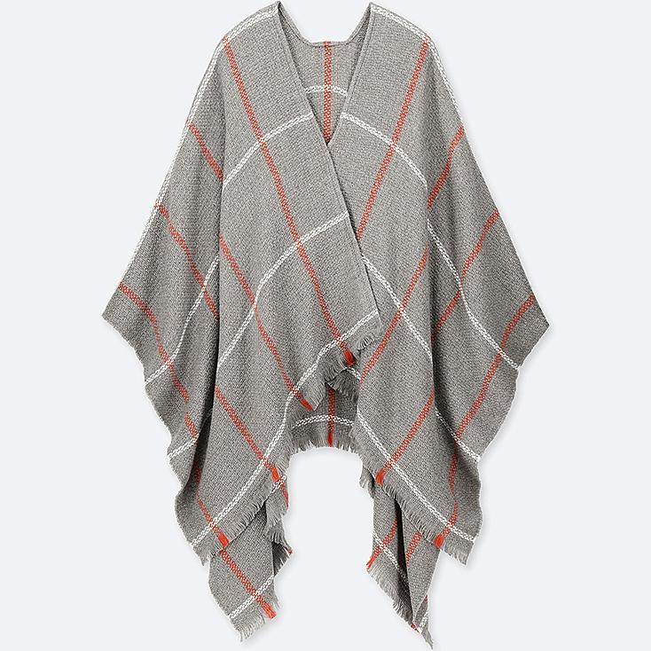 Windowpane 2 Way Stole by Uniqlo