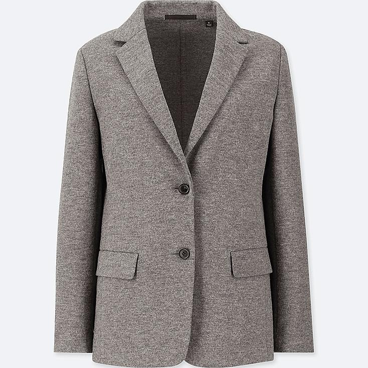 Women Wool Blend Blazer Suit Jacket Uniqlo Uk