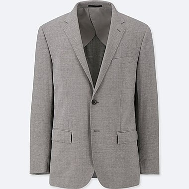 MEN WOOL SLIM FIT STRETCH SUIT JACKET