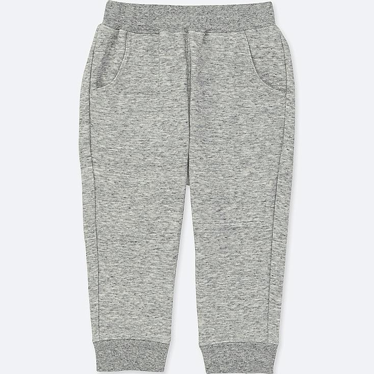 TODDLER PILE-LINED SWEATPANTS, GRAY, large