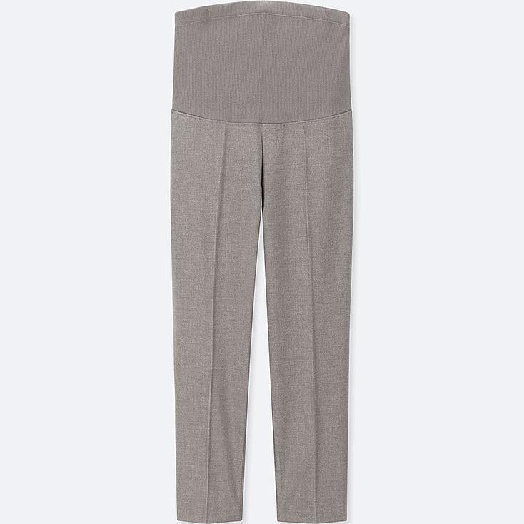WOMEN MATERNITY EZY ANKLE-LENGTH PANTS, GRAY, large