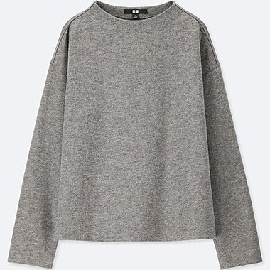 WOMEN WOOL BLENDED LONG SLEEVE PULLOVER
