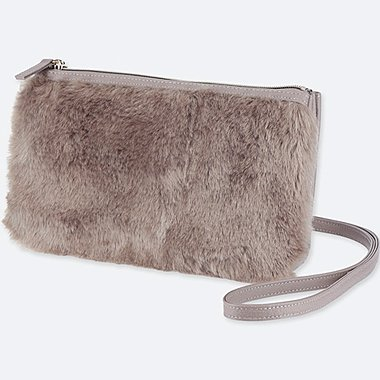 WOMEN Faux Shearling Shoulder Bag
