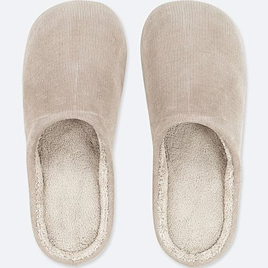CORDUROY SLIPPERS, GRAY, medium