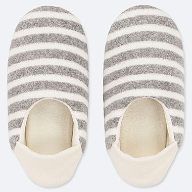 WOMEN PILE SLIPPERS, GRAY, medium