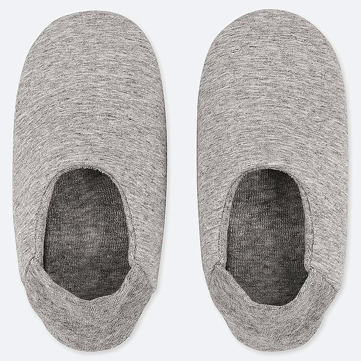 WOMEN FRENCH TERRY SLIPPERS, GRAY, large