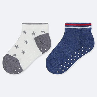 BABY SHORT SOCKS (2 PAIRS), GRAY, medium