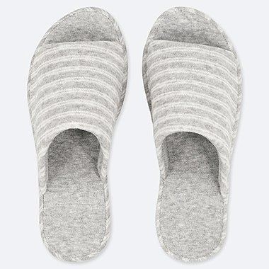 PILE-LINED SLIPPERS, GRAY, medium