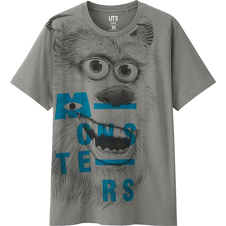 Men's Pixar Graphic Tee, GRAY, large