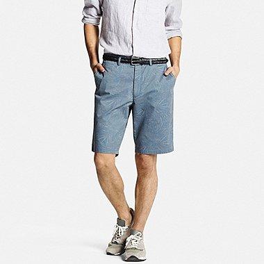 Mens Chino Patterned Shorts, GRAY, medium
