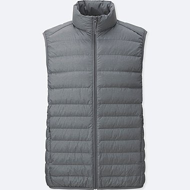MEN ULTRA LIGHT DOWN VEST, GRAY, medium