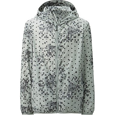 Mens Disney Project Packable Hooded Jacket, GRAY, medium