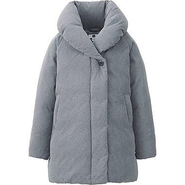 GIRLS WARM PADDED SHAWL COLLAR COAT, GRAY, medium