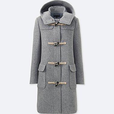 DAMEN Duffle Coat Aus Wollgemisch