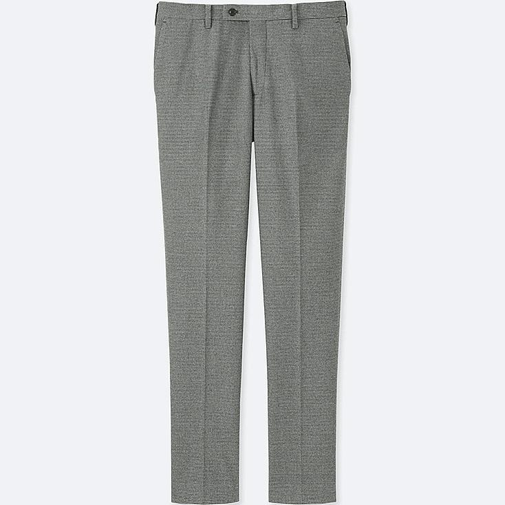 MEN HEATTECH STRETCH SLIM FIT FLAT FRONT PANTS, GRAY, large