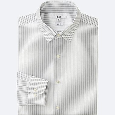 MEN Easy Care Slim Fit Striped Long Sleeve Shirt