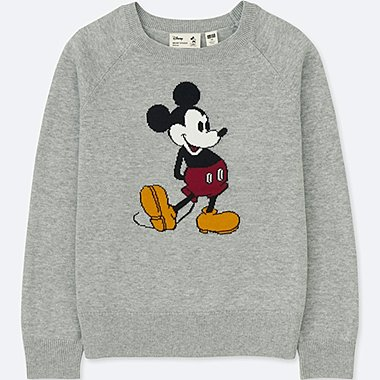 KIDS MICKEY STANDS LONG-SLEEVE SWEATER, GRAY, medium